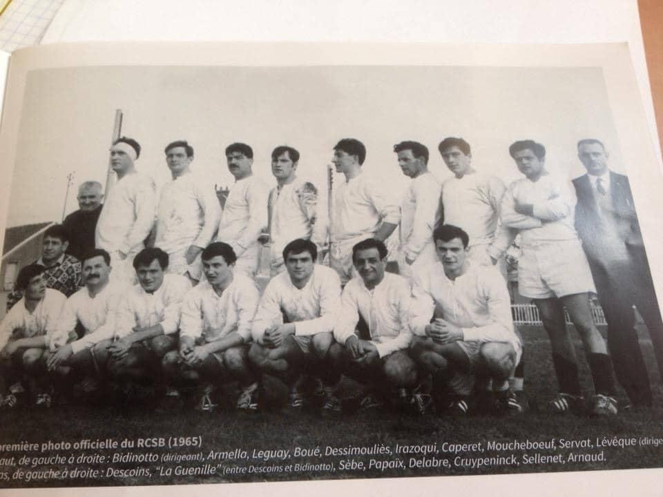 1965 - Première photo d'Equipe du RCSB